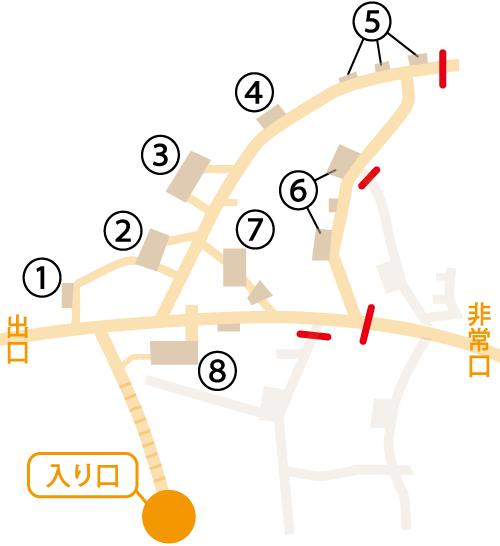 旧海軍司令部壕の壕内マップ図_rwterr4re
