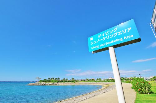波の上うみそら公園「ダイビング&シュノーケル」。初心者も大歓迎!