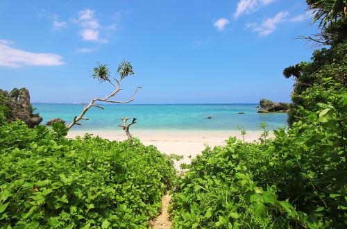 「Maeda Flats」のお隣のビーチ。開けた瞬間の海景色!