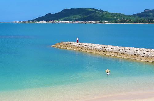 「天の浜」馬天児童公園と一帯となった素敵なビーチ!