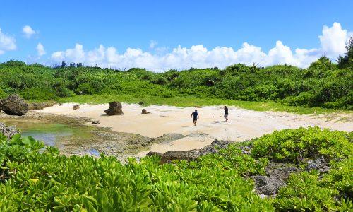 「与那嶺ビーチ」天然のお魚さんが見られる穴場スポット!