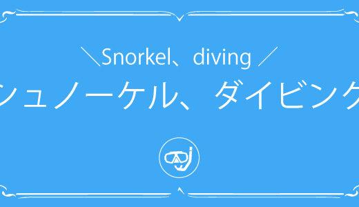 沖縄本島「シュノーケル&ダイビング」スポットを紹介します!
