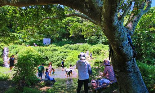 「垣花樋川」名水で知られるパワースポットは水遊びも楽しい!