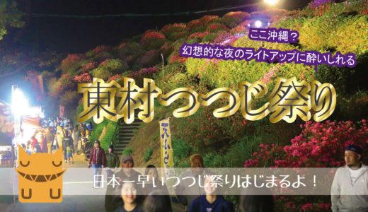 「東村つつじ祭り」夜のライトアップされたお花鑑賞はいかが?