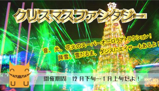 沖縄の年末年始は子供の国「クリスマスファンタジー」で決まり!